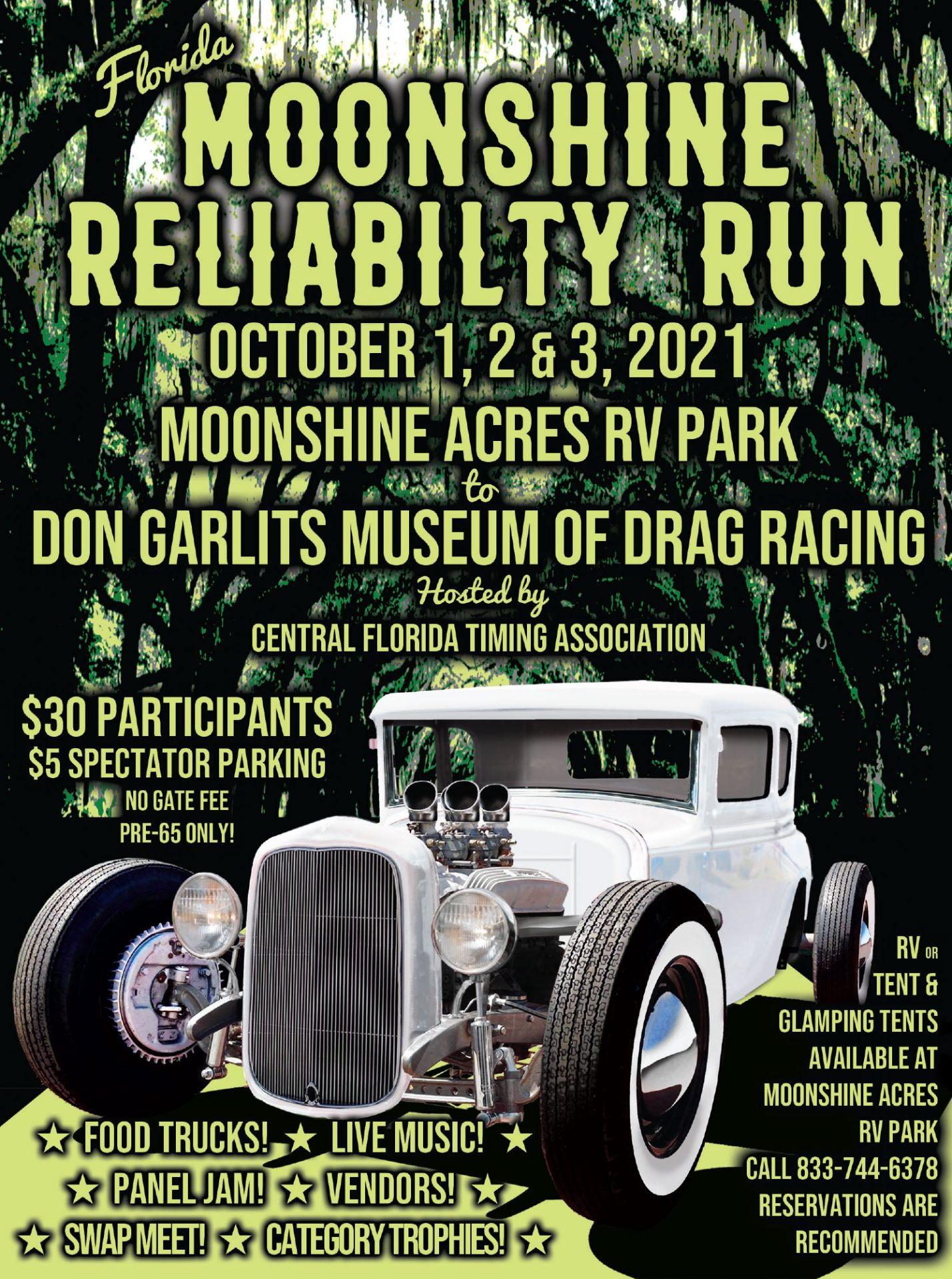 Moonshine Reliability Run Car Show & Camp Out Schedule